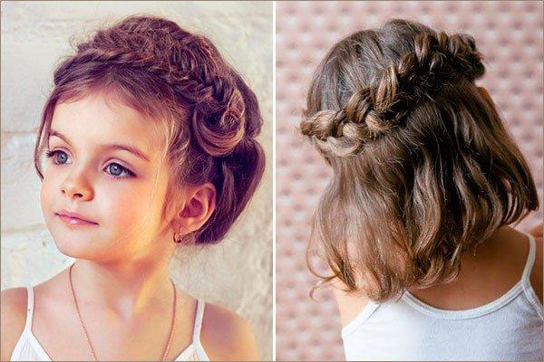 Причёски на средние волосы детские