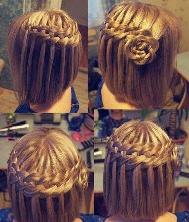 Причёски на короткие волосы своими руками косы