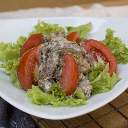 Салат с печенью трески рецепт с фото пошаговый