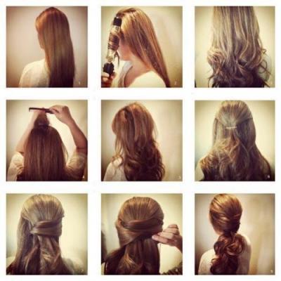 Причёски на длинные волосы в домашних условиях пошагово