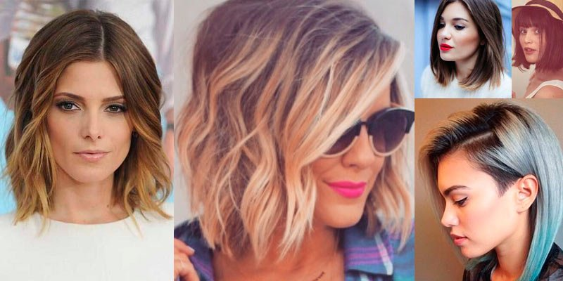 Фото модные прически 2016 женские фото на средние волосы