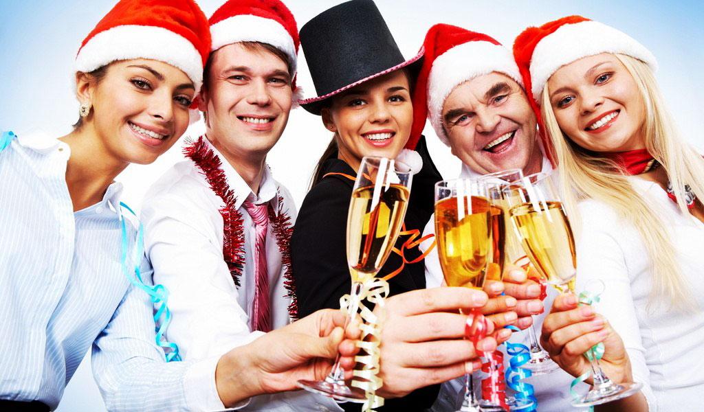 Празднование новый год на заводе