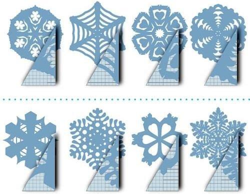 Как сделать простую снежинку с ребенком