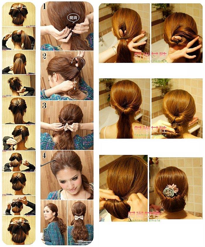 причёски на средние волосы в школу фото поэтапно