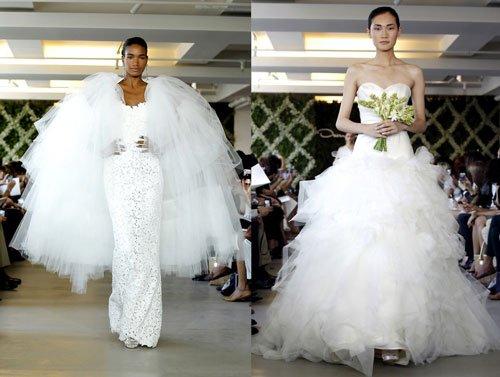 Но все-таки большинство известных дизайнеров уверяют нас в том, что свадебные платья зима 2013-2014 обязательно должны быть длинными, доходящими до самого