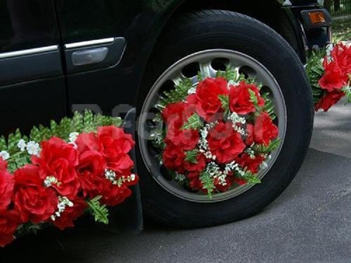 украшаем свадебное авто фото