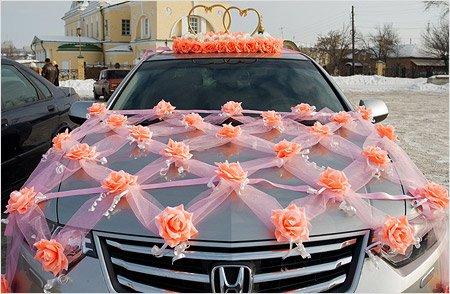 Украшение машины на свадьбу 862