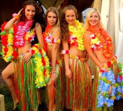Конкурсы для девичника в гавайском стиле
