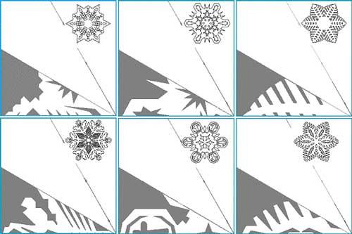шаблоны для вырезания из бумаги снежинки распечатать