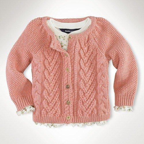 Вязание спицами для детей теплой кофточки