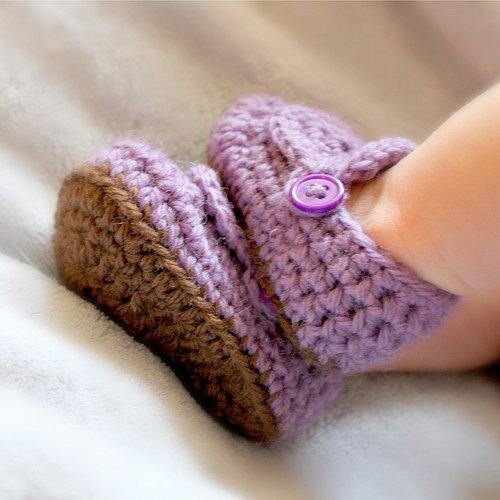 вязание пинеток спицами для детей от 0 до 1