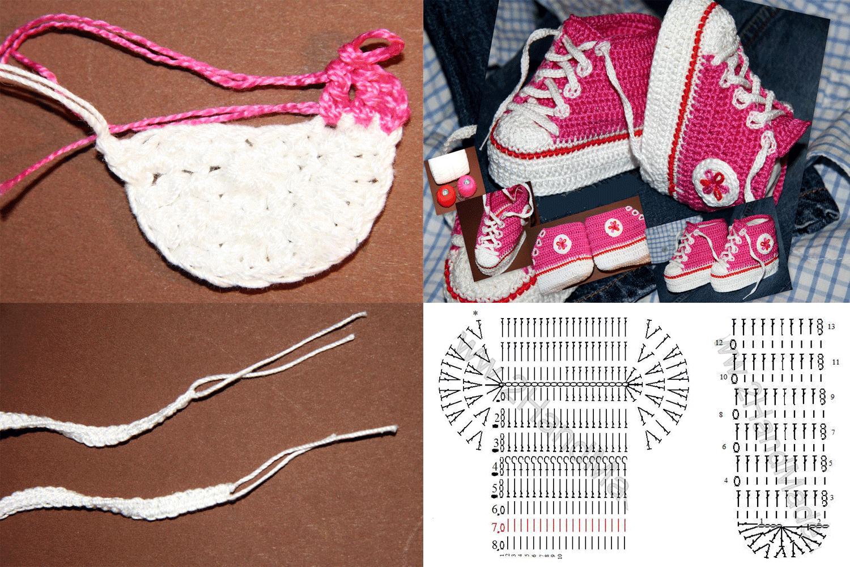 Как связать пинетки спицами для новорожденных схемы