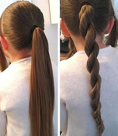 Как сделать прическу для девочки из жгутиков