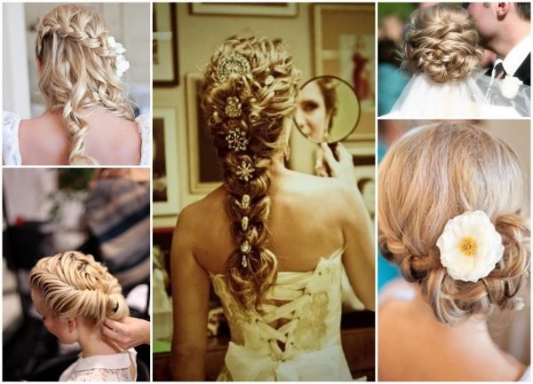 Hairstyle plaits wedding