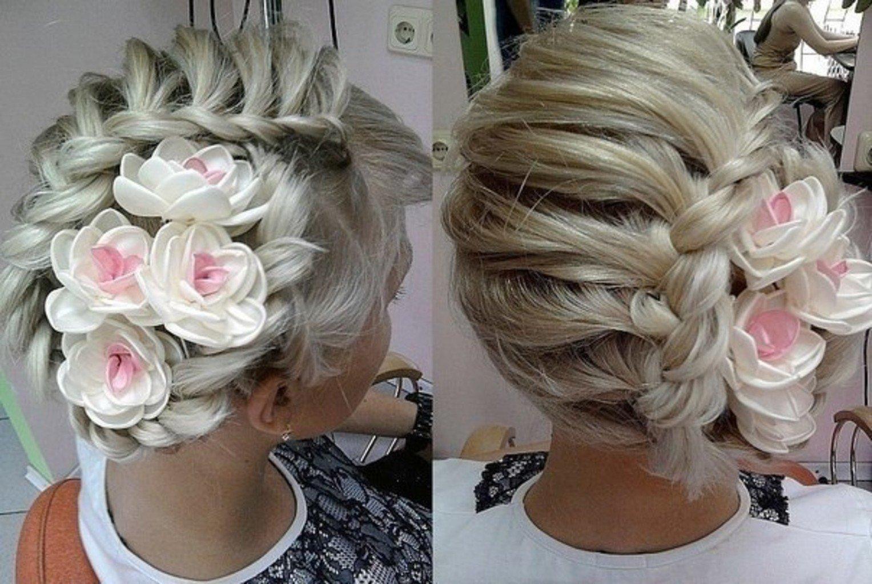 Свадебные прически на средние волосы: новинки с фото
