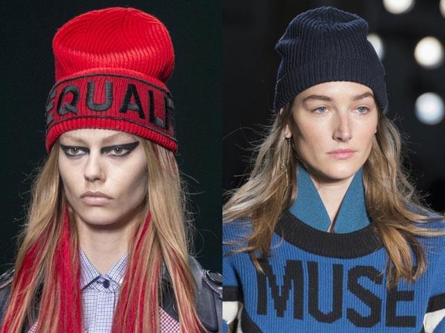 модные шапки осень зима 2018 2019 вязаные тенденции с фото