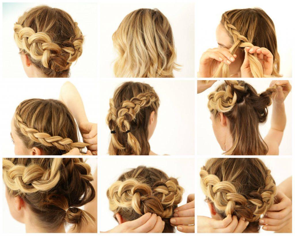 Прическа коса на короткие волосы пошагово и с фото