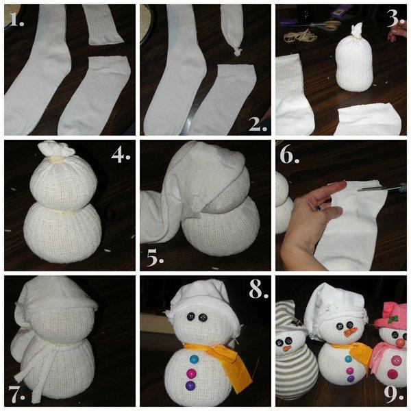 75 Снеговик своими руками на праздник Новый год