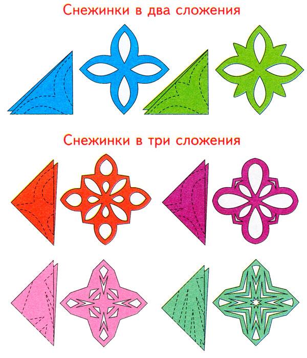 раз красивые снежинки из цветной бумаги схемы для вырезания создать наработать