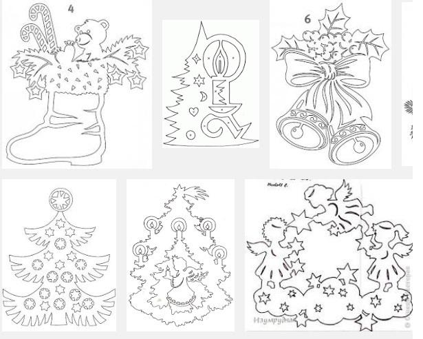 Днем, открытки к новому году своими руками шаблоны