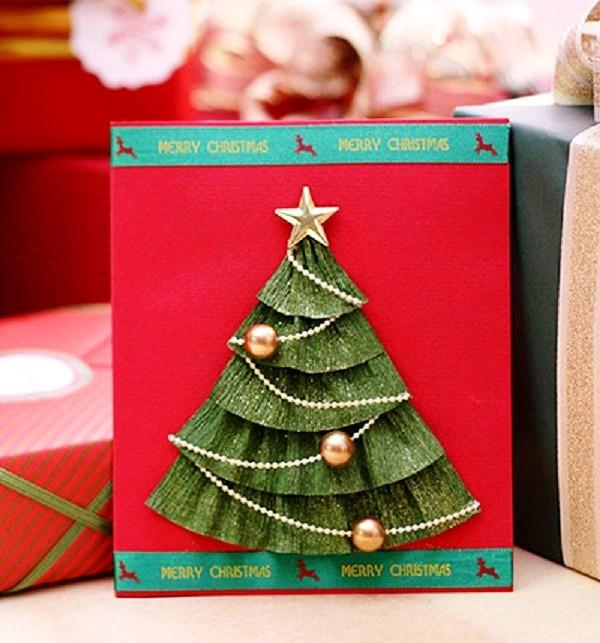 Мама, как можно украсить открытку на новый год