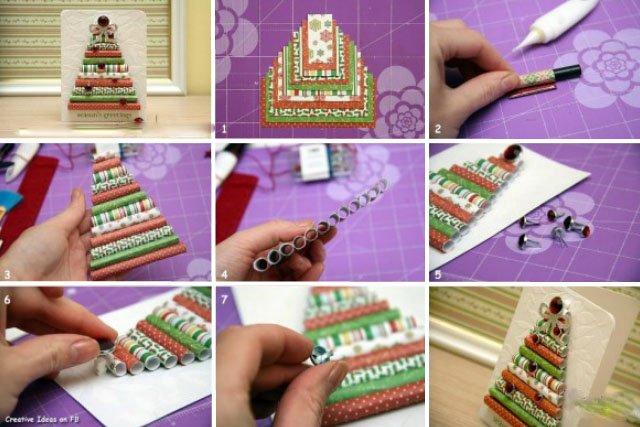 Otkrytka-Elochka-svoimi-rukami-2-kak-smart-obekt-1 Новогодние открытки своими руками