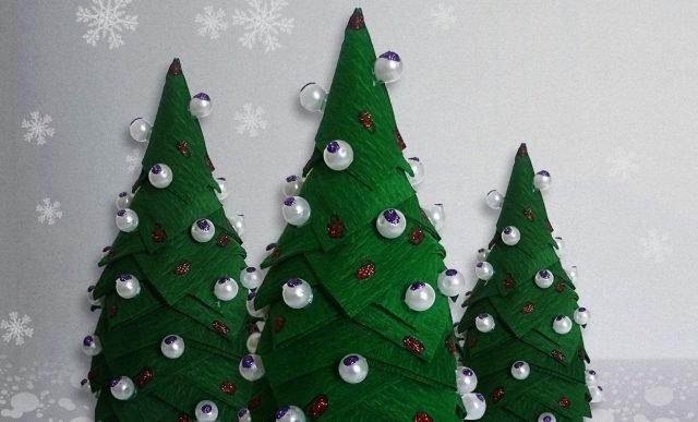 Новогодняя елка поделка в школу