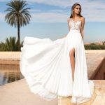 свадебные платья с разрезами