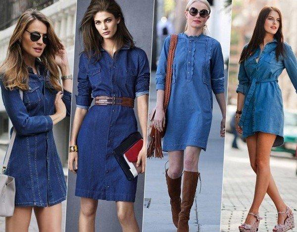 Новые тренды джинсовых платьев