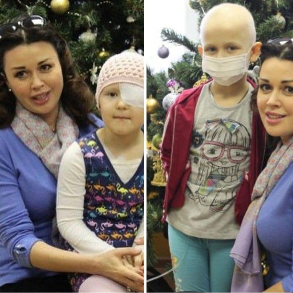 Онкобольные дети выразили поддержку Анастасии Заворотнюк