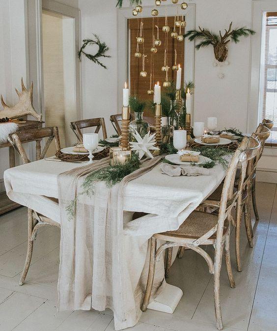 Сервировка стола на Новый год 2020