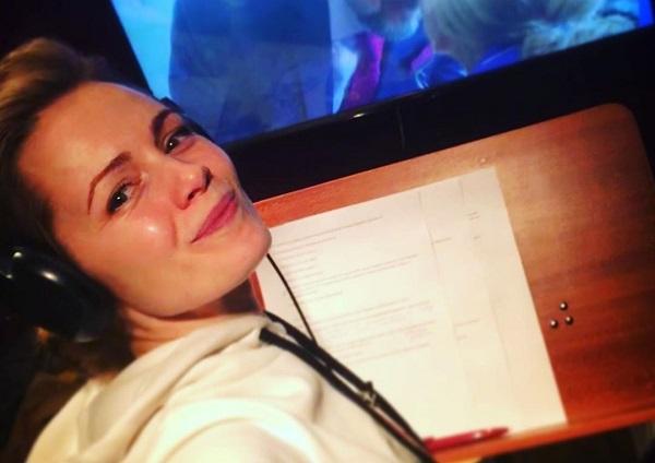 Анна Миклош на работе
