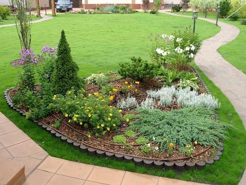 Клумбы для сада своими руками