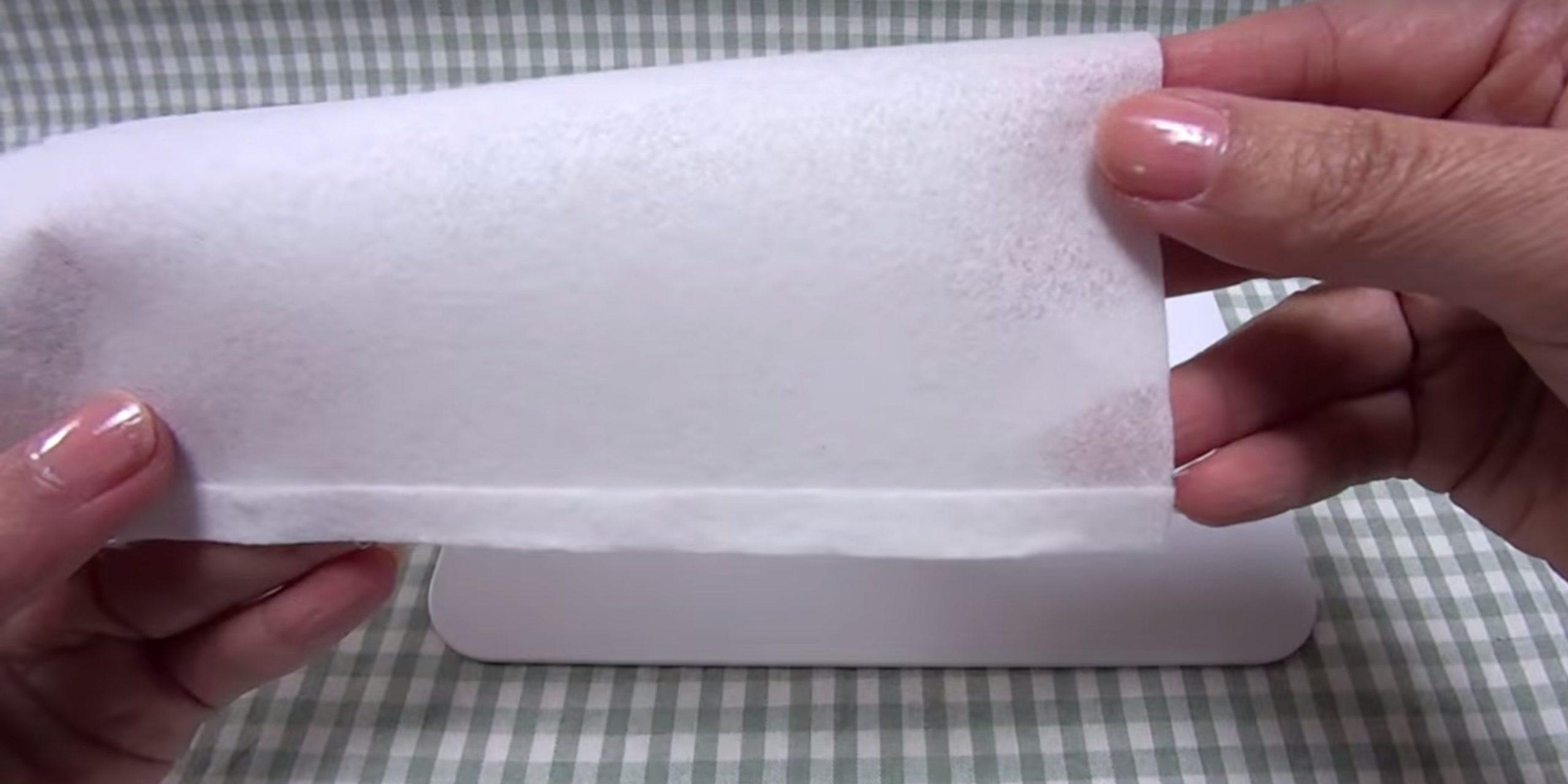 Маска из бумажного полотенца