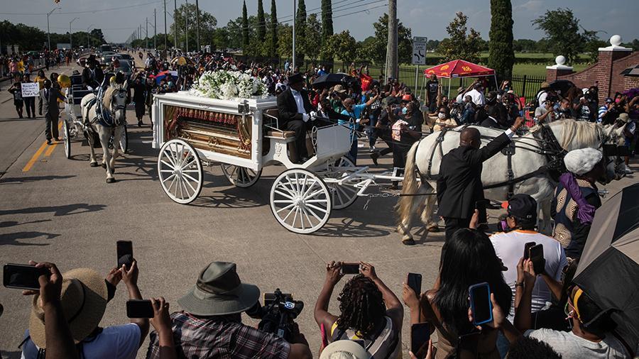 похороны афроамериканца