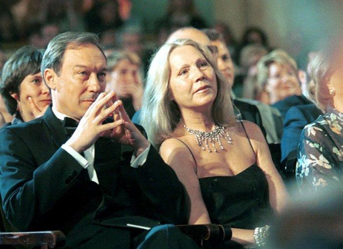 Олег Янковский и жена