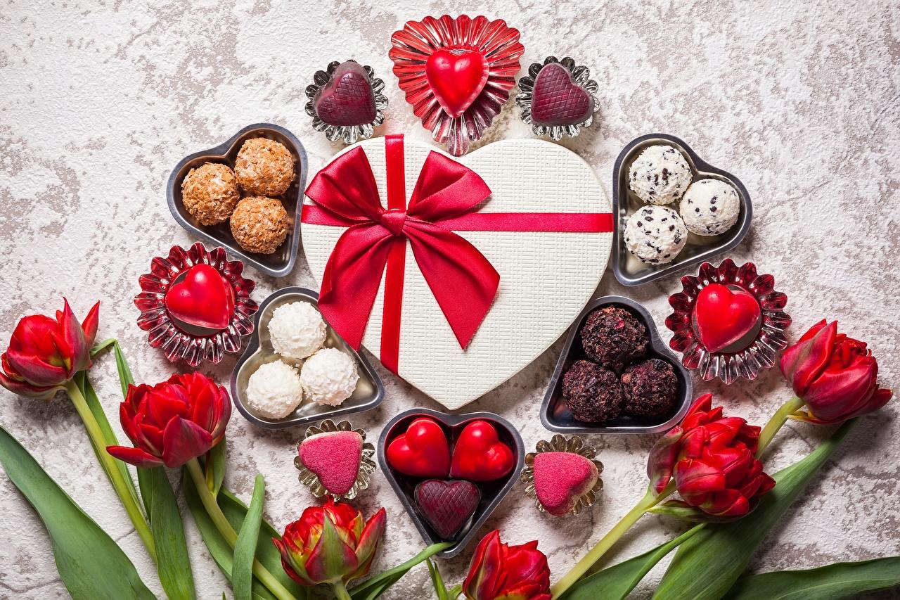 Конфеты на день влюбленных