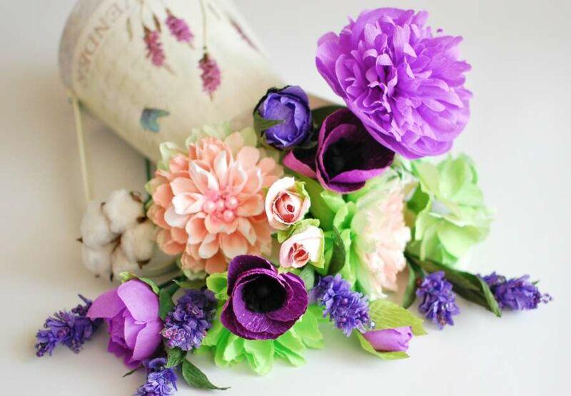 цветы своими руками из бумаги со схемами