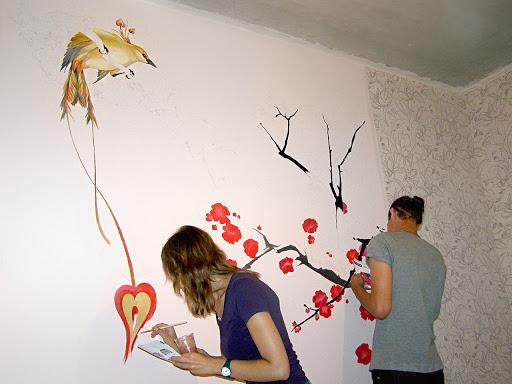 как нарисовать рисунок на стене своими руками