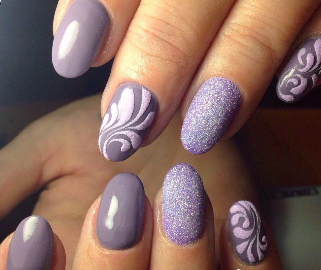 Дизайн ногтей песком на Новый год Быка 2021