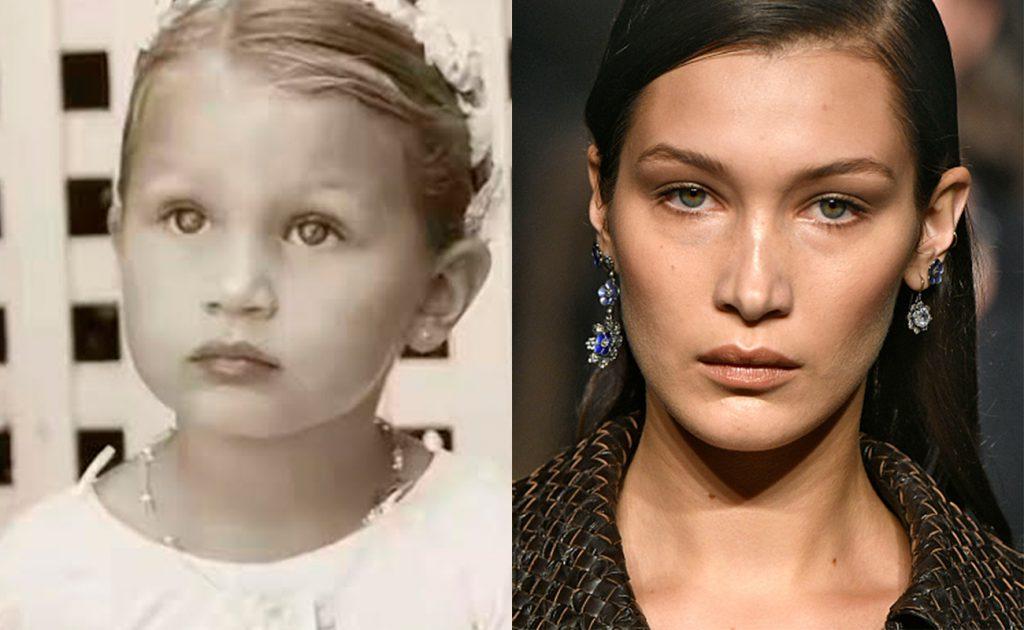 Изабелла Хадид до и после пластики