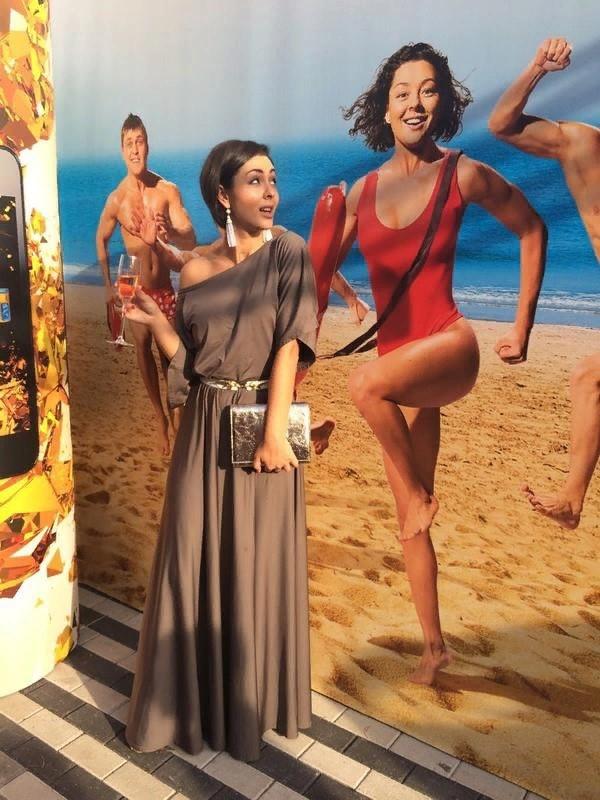 Марина Кравец в купальнике – удалось найти фото только на баннере