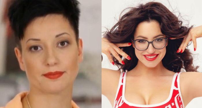 Катя Гершуни до и после пластики