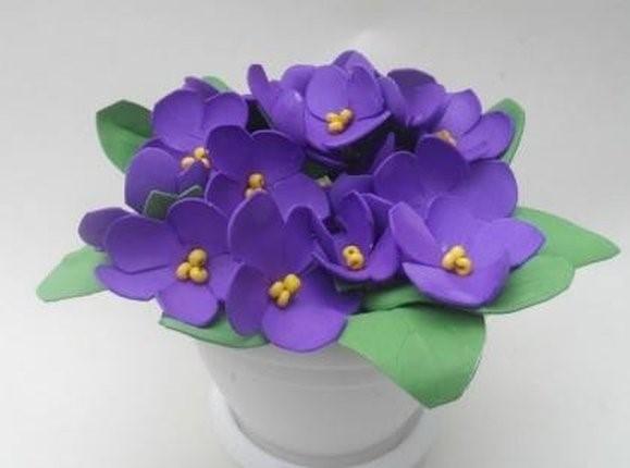 цветы из фетра своими руками 11