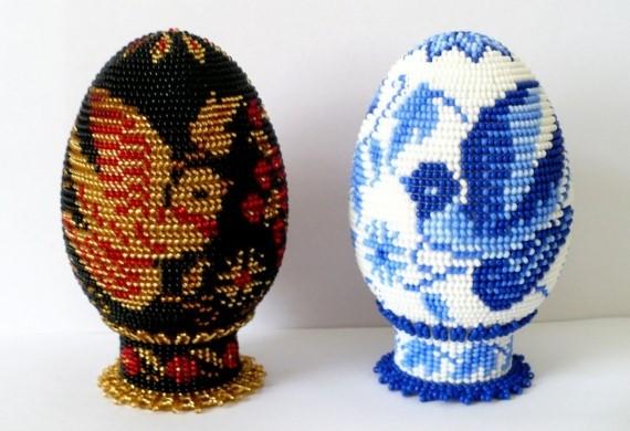 Рисунчатая подставка для яйца. / Академия / Бусинка
