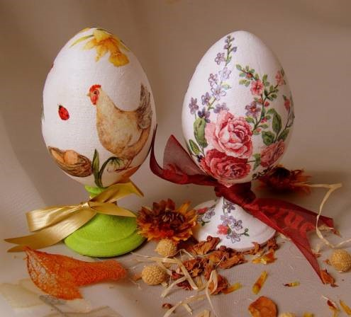 Как покрасить пасхальные яйца в стиле декупаж (+фото) | afmedia.ru