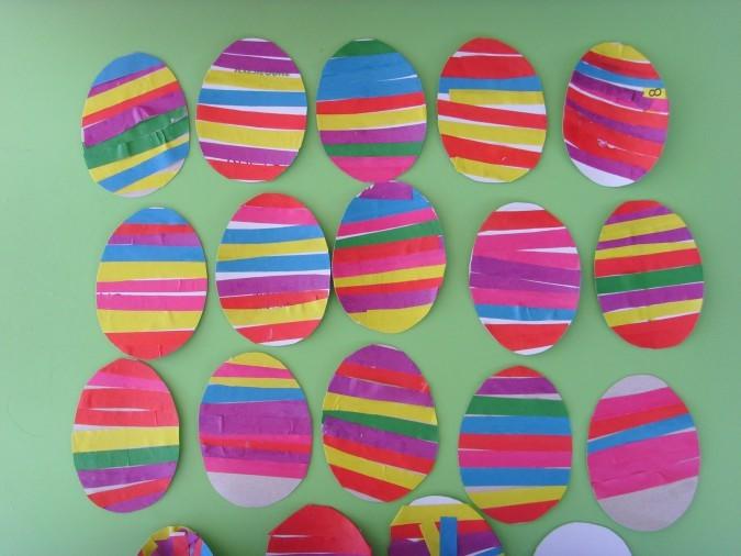 Аппликация «Пасхальные яйца». Воспитателям детских садов, школьным учителям  и педагогам - Маам.ру