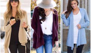 Миниатюра к статье Модные тенденции кардиганов 2018 года (фото)