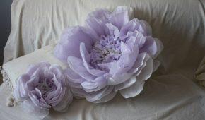 Миниатюра к статье Как сделать своими руками объемные цветы из бумаги