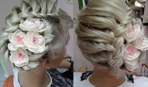 Миниатюра к статье Свадебные прически на средние волосы: новинки с фото